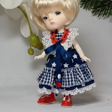 Съемные воротнички в кукольной одежде