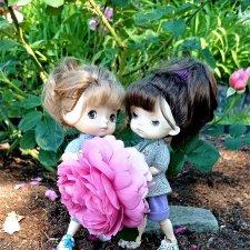 Летний сад глазами Майи и Жульки.