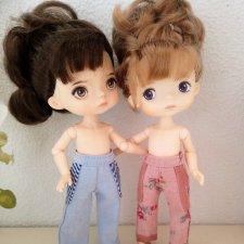 МК «Шьём облегающие брючки с поясом  для кукол»