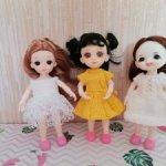 платья для кукол 15-16см