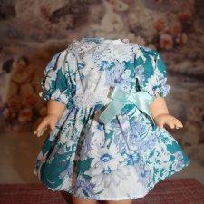 Винтажное платье на кукол СССР, ГДР, и др. В новом состоянии