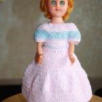 Винтажная паричковая пластиковая кукла от ATC