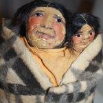 Антикварная кукла Skookum