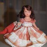 Ранняя куколка из бисквитного фарфора 30-40-е годы