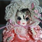 Красивейшая  авторская кукла Арлекин 1991 г.