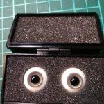 Глазки 16 мм для БЖД (серые)