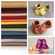 Набор кожи для изготовления кукольной обуви № 1.