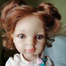 Кукла Кристи с буклями и ореховыми глазами от Paola Reina на «старом теле» (до 2015г), 32см