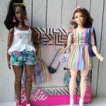 Одежда Барби фешн пак аутфит летний веселенький цветочно полосатый юбка топики шорты фэшен пак аксы