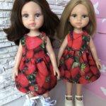 Платье для куклы и дочки формата Паола Рейна(Paola Reina)