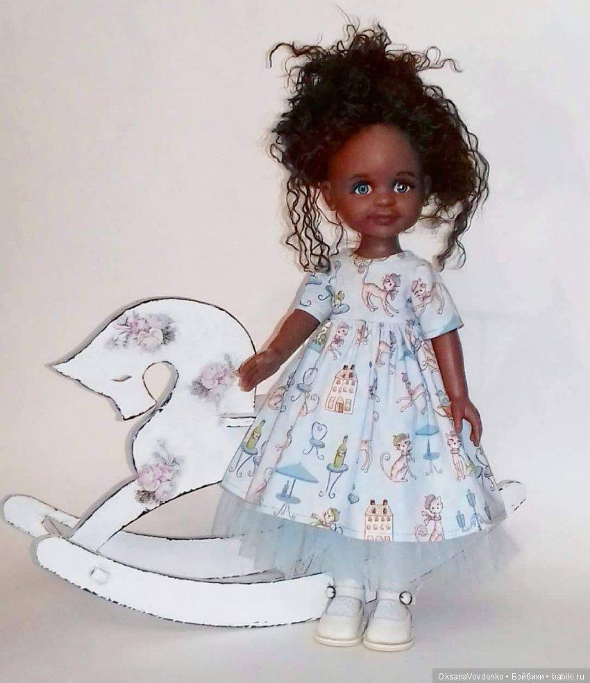 """Платье для куклы Паола Рейна """"Небо Парижа"""" Кастом куклы Паола Рейна Клеопатра"""