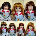 Остатки паричков для кукол