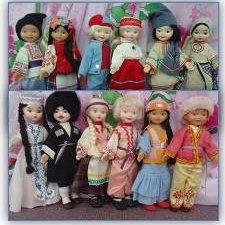 Коллекция куколок СССР в национальной одежде