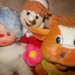 Мягкие игрушки одним лотом: Бычок (символ 2021 года) и Буратино