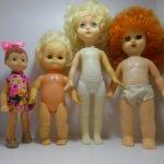 Четыре куклы из СССР одним лотом