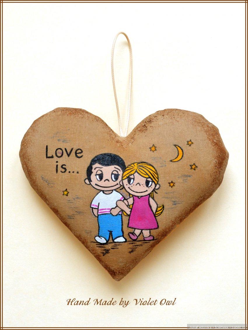 """Кофейное сердце """"Love is..."""""""