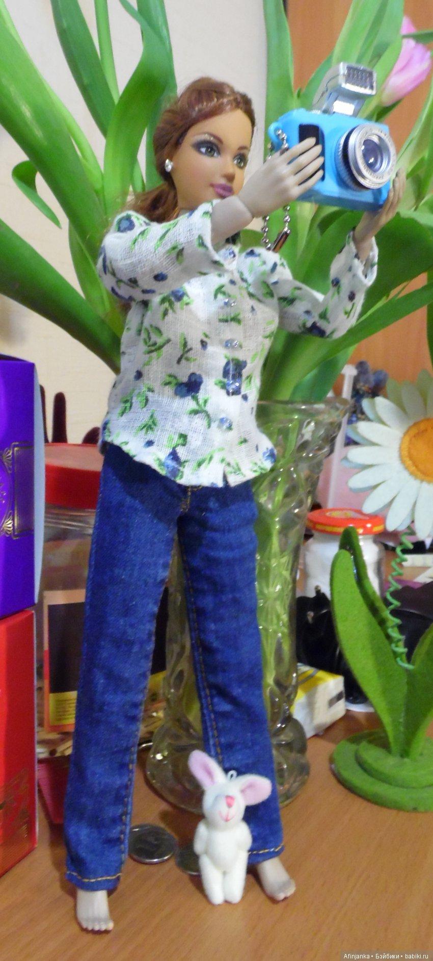 Комплект из джинс и рубашки из тонкого льна