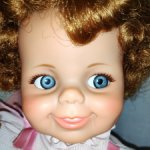 Vintage Ideal Baby Giggles doll, 1968 год.