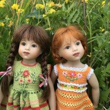 Плюшечки в цвету. Часть 3. Селин и Барбара от Heidi Plusczok