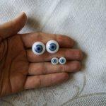 Антикварные голубые стеклянные кукольные глаза Лауша (9мм и 15мм)