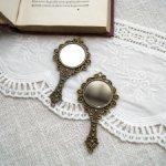 Миниатюрные кукольные зеркальца (бронза)