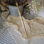 Винтажное деревянное веретено в кукольный интерьер