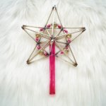 Винтажная стеклянная звезда из стекляруса на елку