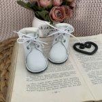 Ботинки для шарнирок Gotz белые с трикотажной вставкой (натур.кожа)