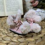 Ботиночки для Gotz 36 см из натуральной кожи с меховой отделкой