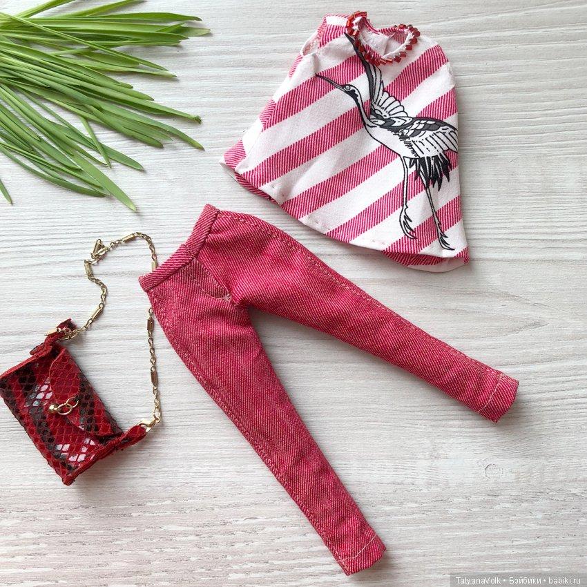 джинсы-блузка-сумочка