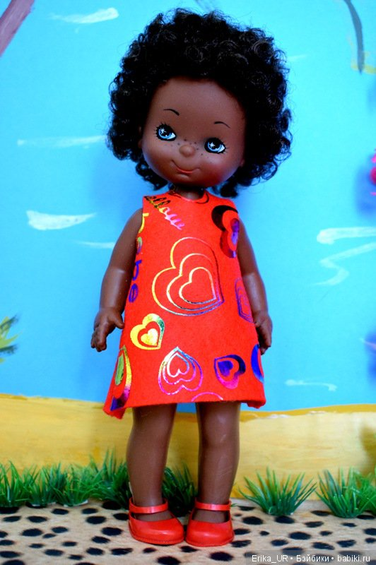 Кеке, Baby-doll, AA, vintage-doll, 23cm, Furga, made-in-Italian