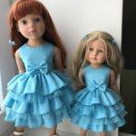 Платья для девочек Готц  ростом 36см и  50 см