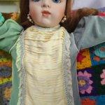 Винтажное платье для реплики/антикварной куклы