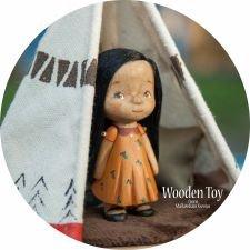 Деревянная индейская девочка Муна и ее увлекательная история