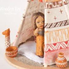 Деревянная Муна из племени индейцев