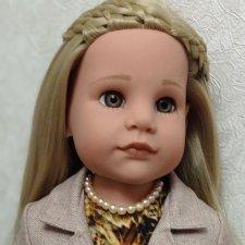 Льняной костюм для кукол Готц.
