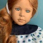 Рыженькая голубоглазка от Ruth Treffeisen.