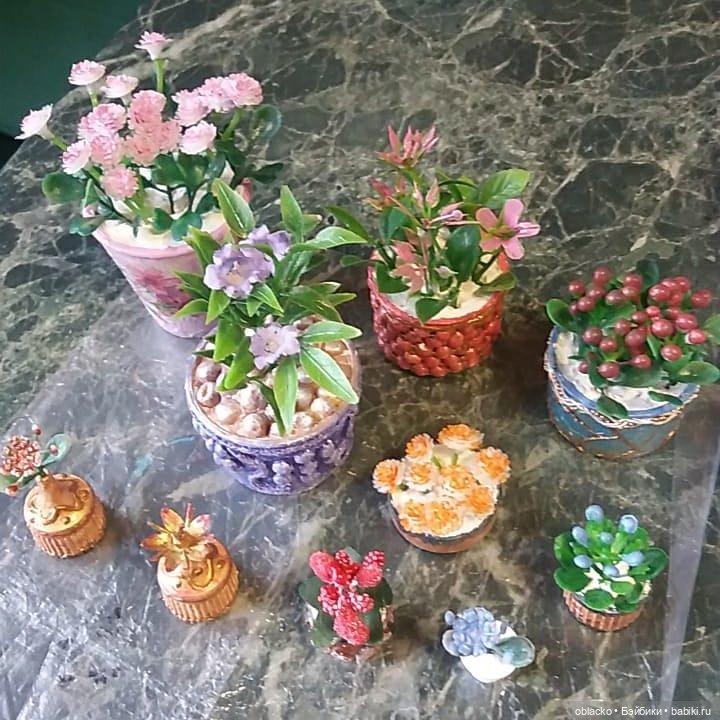 Цветы для кукольных домиков