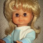 Кукла Гдр блондинка с карими глазами