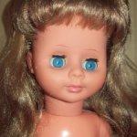 Кукла   Гдр  ,длинные волосы,пересылка в цене.