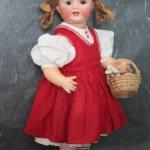 Антикварная кукла характерный малыш Adolf Hulss