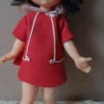 Кукла СССР паричковая ленигрушка на крючках клеймо мишка