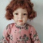 Кукла с фарфоровыми элементами