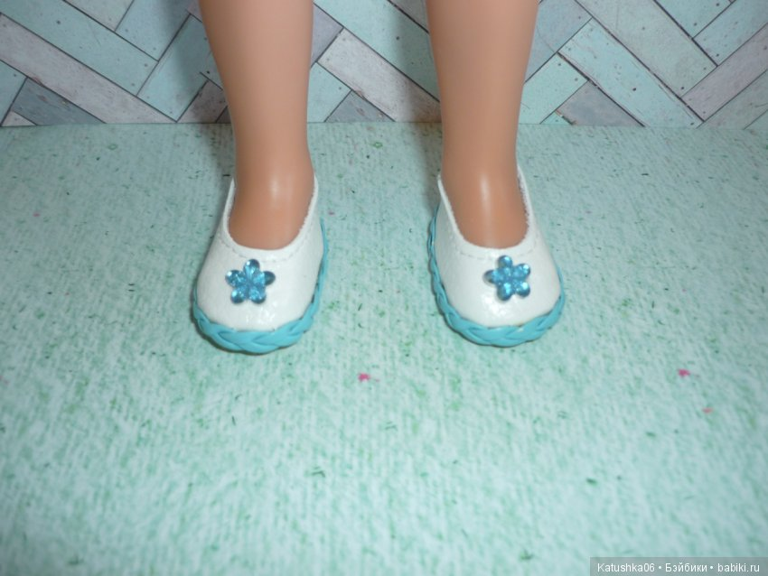 Туфельки для Павлинок из кож.зама