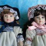 Две редкие и невероятно милые сестрички-принцессы из Бельгии. Фарфор.