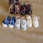 Лот обуви для кукол Паола Рейна