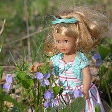 Мэриэллен среди цветов