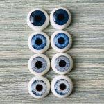 Глаза для кукол 12 мм (радужка 7,5 мм)