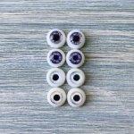 Глаза для кукол 8 мм (радужка 4,5 мм) распродажа