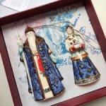 Коллекционные фарфоровые статуэтки-колокольчики на елку
